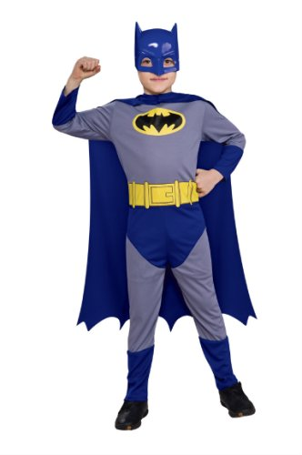 [Dress Up Batman The Brave and The Bold Batman Action Suit Set Costume, Child Size 8 To 10] (Bold Jumpsuit Costumes)