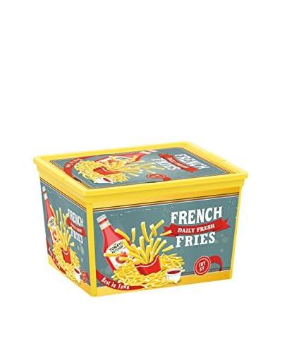 Kis Set Caja de Almacenamiento 6 Uds. C-Box Cube _ Vintage Fast Food Multicolor