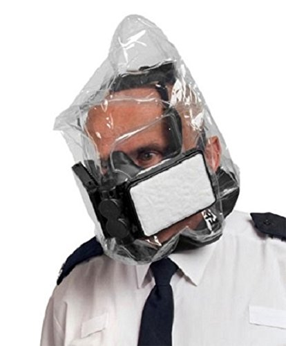 NBC Gas Mask - Ebola Virus Protection Respirator - New CBRN Escape Hood- Protection Against Ebola, Avian Flu Mask With Twin Filters - Lightweight and Compact