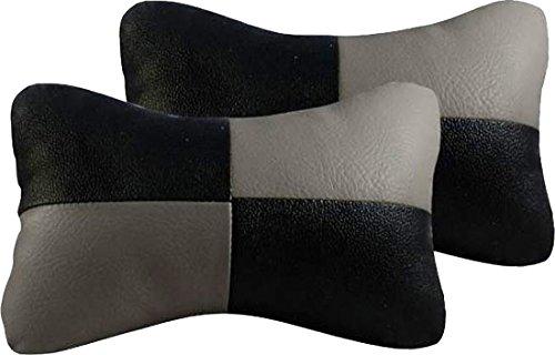 AUTO CAR WINNER Black & Grey Car Neck Rest Cushion