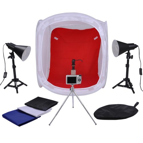 #1  Photo Cube Studio Lighting Tent Tripod Kit 24