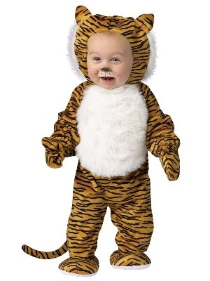 [Infant Boys & Girls Cuddly Tiger Costume 0-6 Months] (Tiger Halloween Costumes)