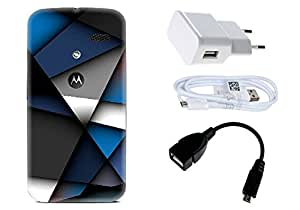 Spygen Motorola Moto X (1st Gen) Case Combo of Premium Quality Designer Printed 3D Lightweight Slim Matte Finish Hard Case Back Cover + Charger Adapter + High Speed Data Cable + Premium Quality OTG