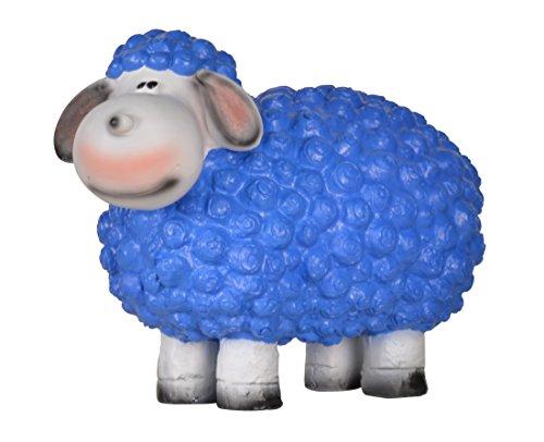 dekofigur schaf blau mit besonders feinen gesichtsdetails. Black Bedroom Furniture Sets. Home Design Ideas