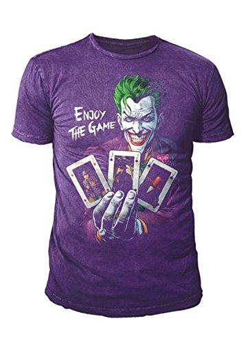The-Studio-Deluxe-WB-Shield-DC-Comic-The-Joker-T-Shirt-camiseta-Hombre-Morado-morado-Large