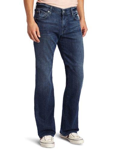 7 For All Mankind - Mens Brett Bootcut Jeans In Nakita Grey, Size: 38, Color: Nakita Grey