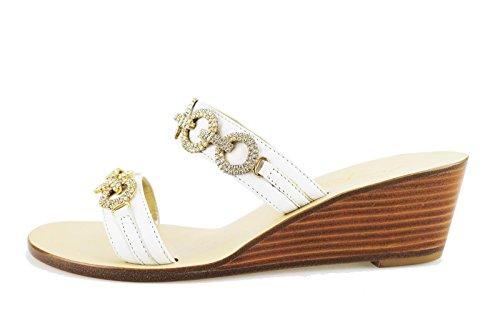 CAPRI sandali donna 36 EU bianco pelle AG567-B