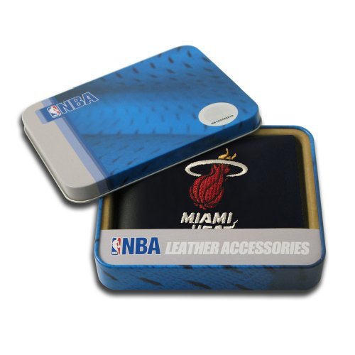NBA Miami Heat Embroidered Genuine Cowhide Leather Billfold Wallet (Miami Heat Wallet compare prices)