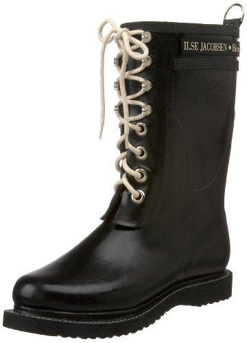 ILSE JACOBSEN Women's Rub 15 Rain Boot,Black,38 EU/8 M US