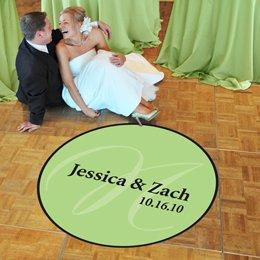 "Large (50"") Elegance Wedding Dance Floor Decal"