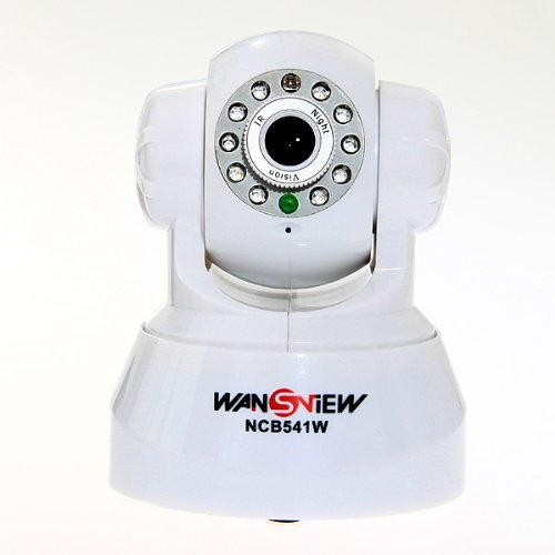 Wansview Wireless Ip Camera Pan/Tilt/ Night Vision/ Internet Surveillance Built-In Microphone With Phone Remote Monitoring Support - White