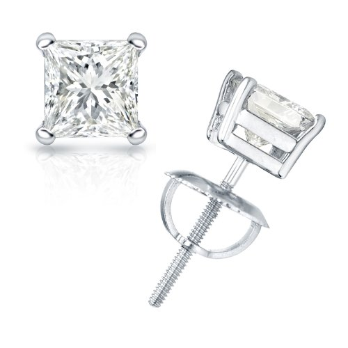 1/2 cttw Princess-Cut Diamond 4-Prong Stud Earrings