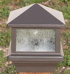 Sirius Deck Light 3 12 4x4 Wood Post 16W LED Black