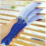 Ashley Housewares Triple Venetian Blind Cleaner - Removable, Hand Washable Microfibre Fabric Duster For Wet Or Dry Cleaning Of Slats