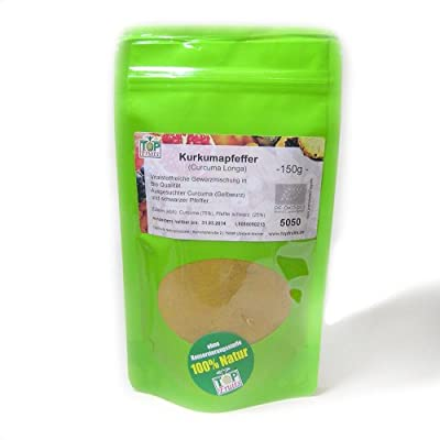 Topfruits Kurkumapfeffer (curcuma longa) - vitalstoffreiche Gewürzmischung - bio kbA, 150g von Topfruits bei Gewürze Shop