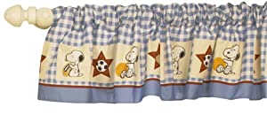 Bedtime Originals Champ Snoopy Window Valance, Blue by Lambs & Ivy