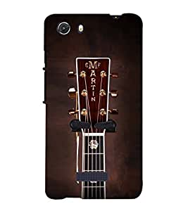Stylish Guitar 3D Hard Polycarbonate Designer Back Case Cover for MIcromax Canvas Unite 3 Q372