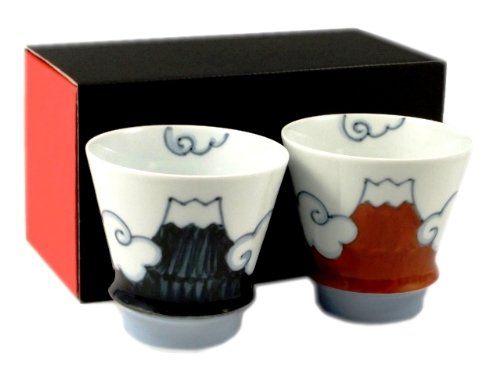 青富士・赤富士(富士山) ペア至高の焼酎グラス<オリジナル>【有田焼 匠の蔵 睦峰 】