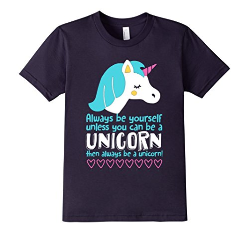 Kids Always Be Yourself Unless You Can Be A Unicorn T-shirt 8 Navy