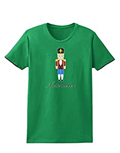 Nutcracker Design - Red Gold Black Text Womens Dark T-Shirt - Kelly Green - Medium