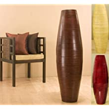47 Inch Tall Bamboo Cylinder Vase