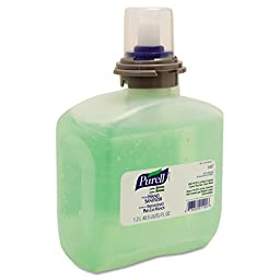 PURELL GOJ 5457-04 Advanced TFX Gel Instant Hand Sanitizer Refill with Aloe, 1200 mL, Clear (Pack of 4)