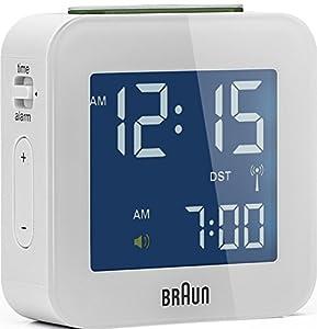 Braun BNC 008 - relojes de mesa (5,7 cm, 1,99 cm, 5,7 cm, LCD, Azul, AAA, 1.5V, LR3) Color blanco marca Braun