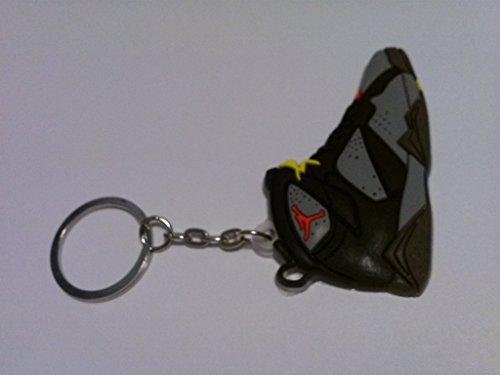 Air Jordan 7/VII Bordeaux Grey/Black/Red Olympic Chicago Bulls Sneakers Shoes Keychain Keyring AJ Retro