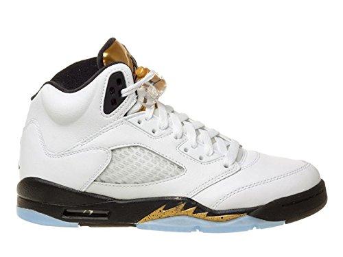 nike-herren-air-jordan-5-retro-bg-basketball-turnschuhe-blanco-blanco-white-black-mtlc-gold-coin-39-