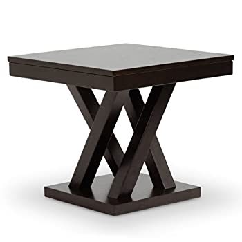 Baxton Studio Everdon Modern End Table, Dark Brown
