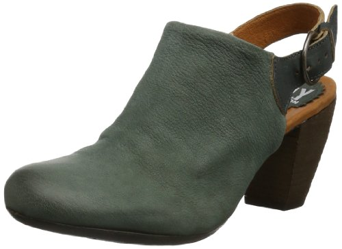 Fly London Womens EGLI Clogs And Mules Gray Grau (GREY/ANTHRACITE 001) Size: 36