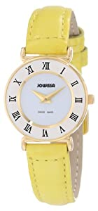 Jowissa Women's J2.033.S Roma Colori 24 mm Gold PVD Yellow Leather Roman Numeral Watch