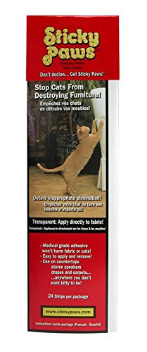 Pioneer Pet Sticky Paws Furniture Strips Cat Deterrent