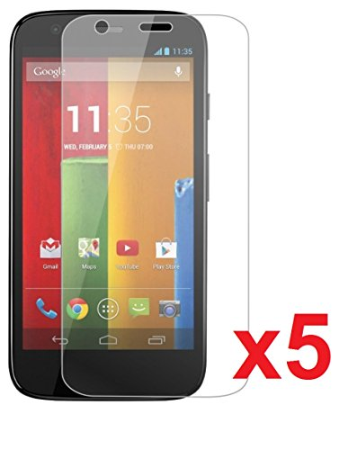 Etech Collection 5 Pack Of Crystal Clear Screen Protectors For Motorola Moto G Xt1032 -- Free Shipping From Usa