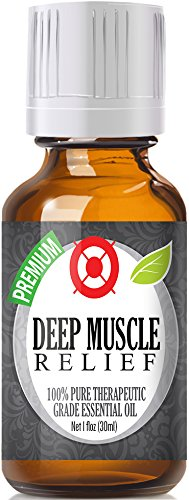 Deep Muscle Relief Blend 100% Pure, Best Therapeutic Grade Essential Oil - 30ml / 1 (oz) Ounce - Comparable to DoTerra's Deep Blue & Young Living's PanAway Blend - Wintergreen, Peppermint, Chamomile Blue, Eucalyptus, Camphor