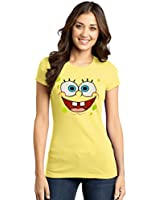 Spongebob Face Junior Ladies T-Shirt