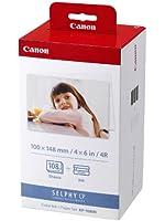 Canon KP-108IN Carta fotografica (108 fogli 10x15 cm) e cartuccia colore per stampante Selphy