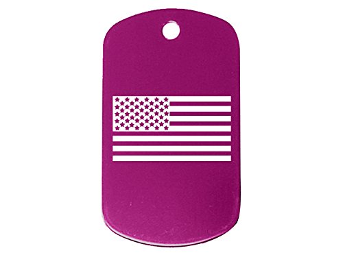 US Flag Inverse Alternate Purple Dog Tag Military ID K9 Custom Laser Engraved By Ndz Performance (Alternate Us Flag compare prices)