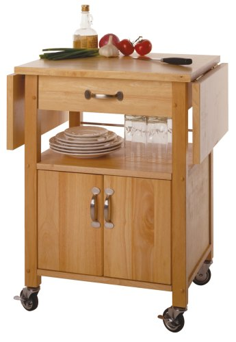 Rolling Kitchen Cart Utensil Drawer Shelf Storage Cabinet