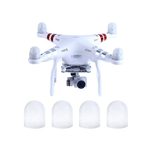 YKS Silicon Gel FPV Quadcopter Motor Guard Cap For DJI Phantom 3 / 2 (White, Pack of 4) (Quad Motor Cap compare prices)