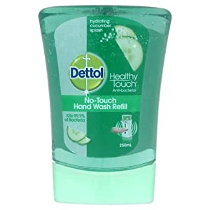 Dettol Healthy Touch Antibacterial No Touch Hand Wash System - Hydrating Cucumber Splash Refill (250ml)