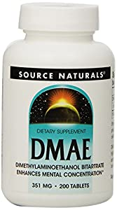 Source Naturals, DMAE, 351 mg, 200 Tabletten