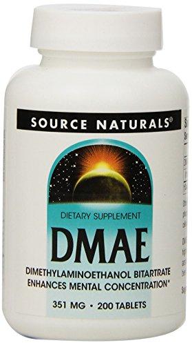 Artikelbild: Source Naturals, DMAE, 351 mg, 200 Tabletten