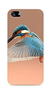Amez designer printed 3d premium high quality back case cover for Apple iPhone 5 (Beautiful Flapping Kingfisher Bird)