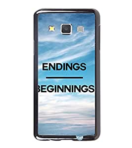 Fuson Premium 2D Back Case Cover Ending begins With blue Background Degined For Samsung Galaxy A3::Samsung Galaxy A3 A300F