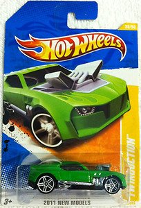 Hot Wheels 2011 New Models 1:64 Green Twinduction Car 38/50 - 1