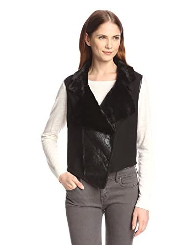 Allison Collection Women's Faux Fur Moto Vest