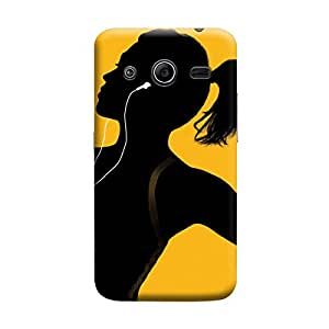 Desicase Samsung Core 2 iPod Music 3D Matte Finishing Printed Designer Hard Back Case Cover (Multicolor)