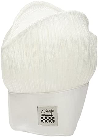 "San Jamar H026 Poly Cotton Chef Mesh Hat with Adjustable Velcro Closure, 11"" Height"