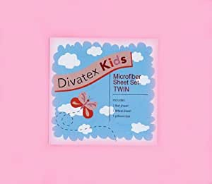 Light Pink Microfiber Twin Sheet Set Divatex Kids Sheets